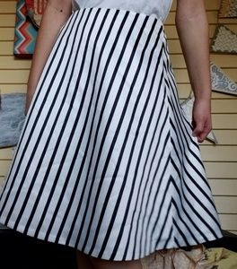 The Limited Striped Full Skirt
